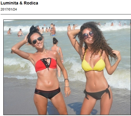 Two bikini cuties having fun - Luminita and Rodica