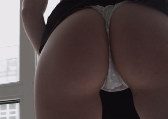 Showing her revealing thong