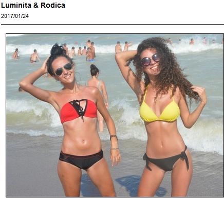 Two bikini cuties having fun - Luminita and Rodica