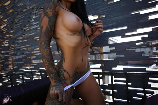 Girl in white panties