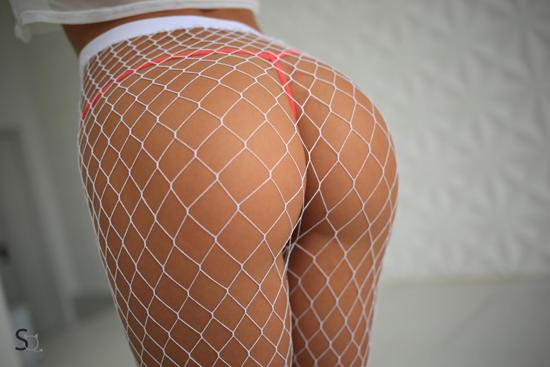 Fishnet pantyhose