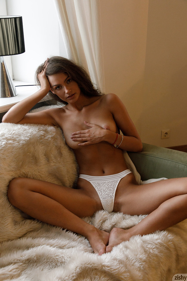 Shayla Volbeck in a handbra