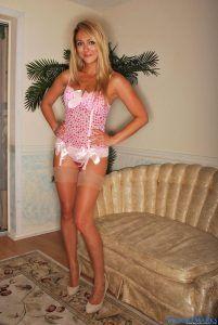 Lovable Brooke Marks in her love heart lingerie